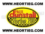 Paul Dunstall Norton 750 Tank and Fairing Transfer Decal DDUN8-7